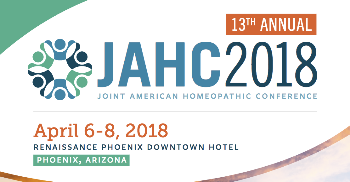 13TH ANNUAL JOINT AMERICAN HOMEOPATHIC CONFERENCE (JAHC) BY THE